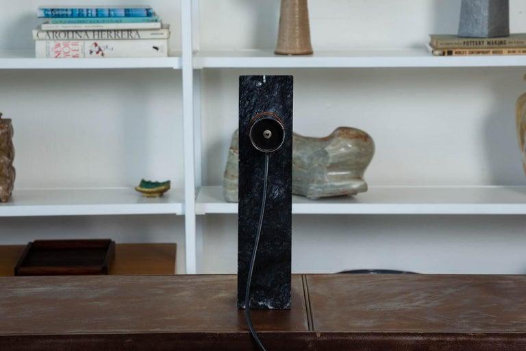 Robert Sonneman Chrome and Marble Table Lamp For Sale 1