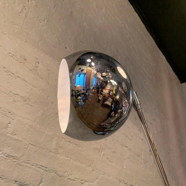 Robert Sonneman Chrome Eyeball Extension Arm Floor Lamp For Sale 2