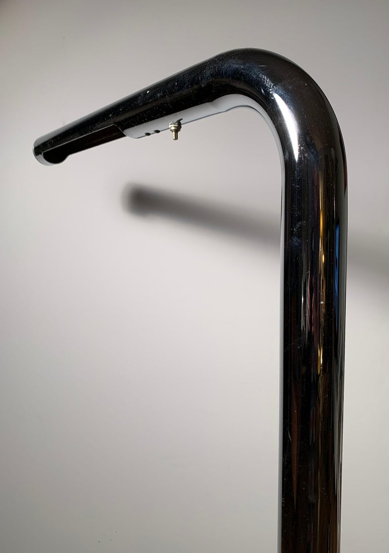 Robert Sonneman Chrome Tube Reading Floor Lamp For Sale 1