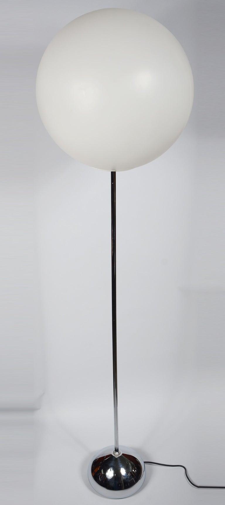 Mid-20th Century Robert Sonneman Globe Floor Lamp