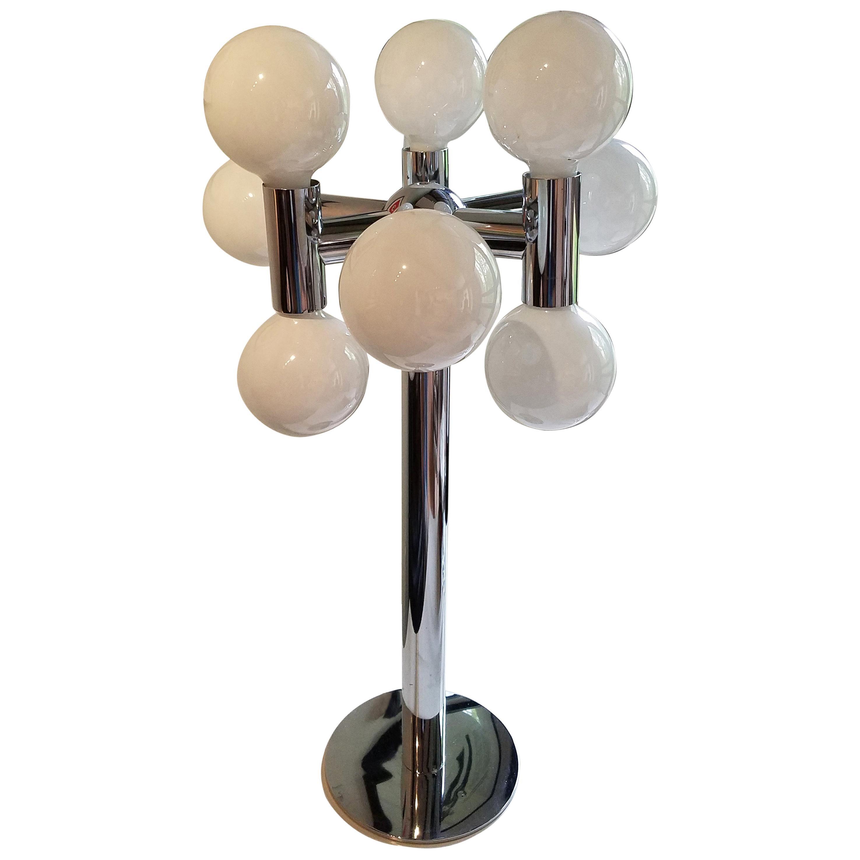 Robert Sonneman Midcentury Chrome Bubble Lamp, 1960s