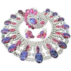 Robert Sorrell Dragons Breath Fire Opal Crystal Bracelet Necklace Earrings Set