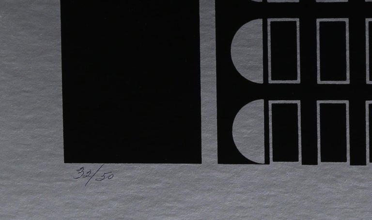 Black Silver, Silkscreen on Foil by Robert Squieri - Print by Robert Squeri
