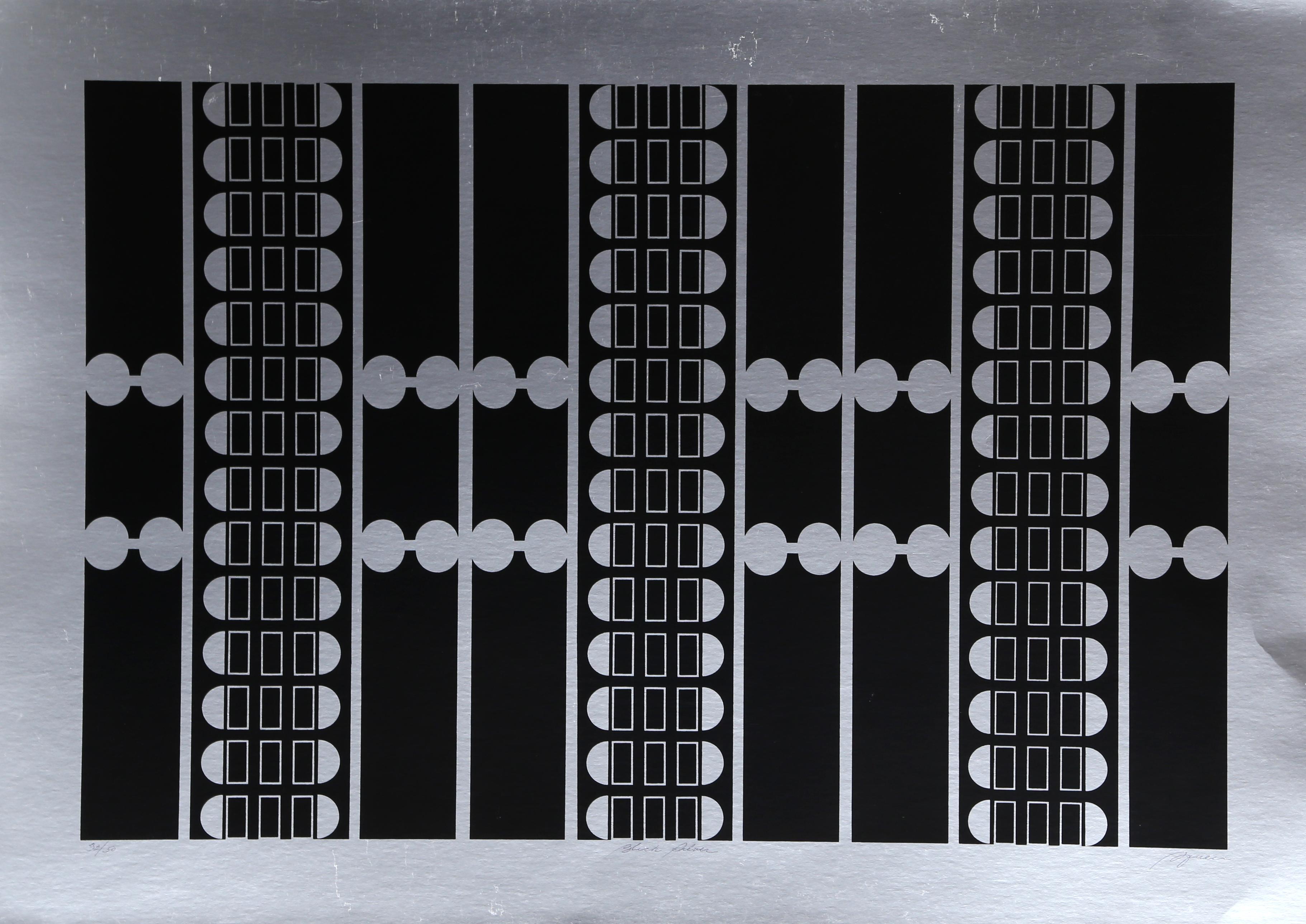 Black Silver, Silkscreen on Foil by Robert Squieri