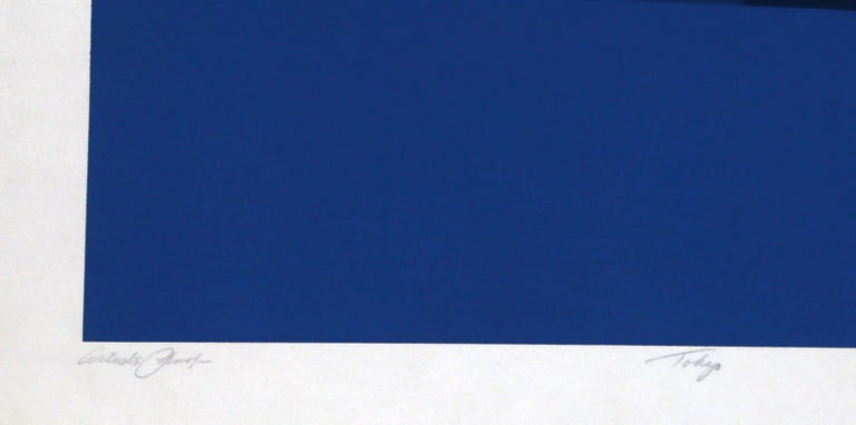 Tokyo 3, Geometric Silkscreen by Robert Squeri For Sale 2