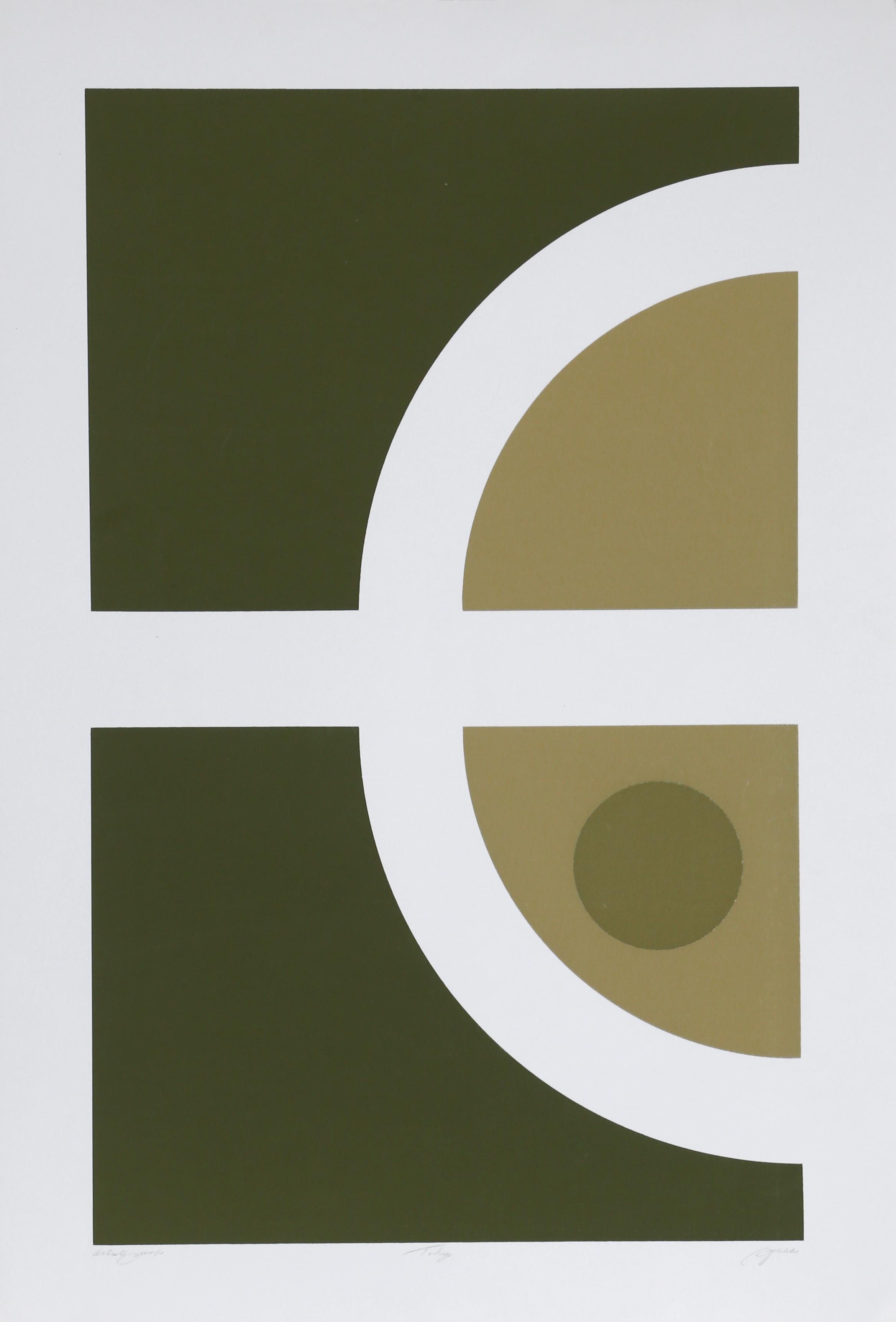Tokyo 4, Geometric Silkscreen by Robert Squeri