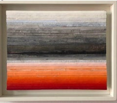 Robert Stuart, Getting to Red Through White, abstract colorfield painting, 2019