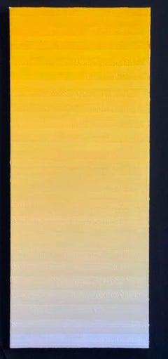 Robert Stuart, Untitled Yellow Progression, abstract colorfield painting, 2019