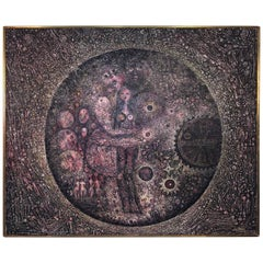 Robert Tatin Surrealist Painting Titled La Delivrance