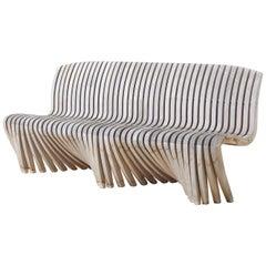 Robert Tiffany Organic Modern Teak Cantilever Bench