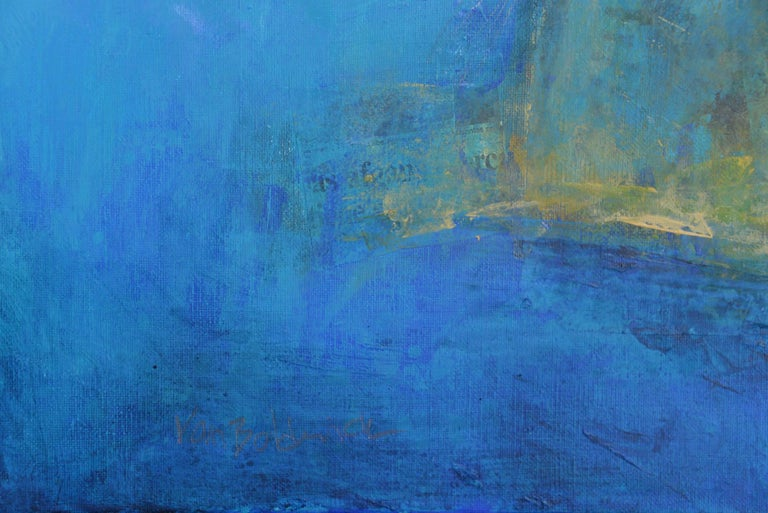 Le sacre du printemps, abstract coastline, light blue - Abstract Painting by Robert van Bolderick