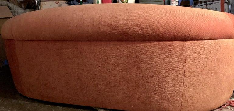 20th Century Robert Venturi Knoll 'Grandma' Loveseat Sofa Chenille, 1984, Postmodern Couch For Sale