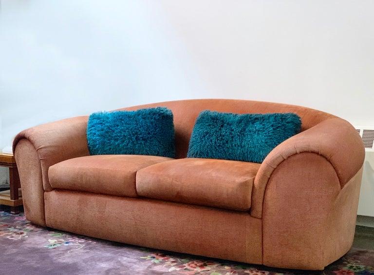 Post-Modern Robert Venturi Knoll 'Grandma' Loveseat Sofa Chenille, 1984, Postmodern Couch For Sale
