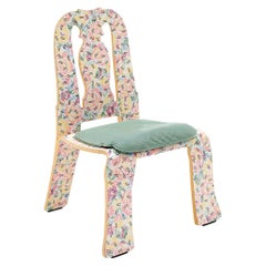 Robert Venturi Queen Anne Chair for Knoll in Grandmother Pattern Finish