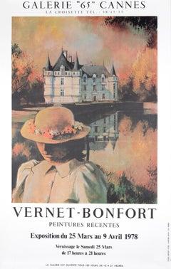 """""""Vernet-Bonfort Peintures Recentes - Galerie 65 Cannes"""" Exhibition Poster"""