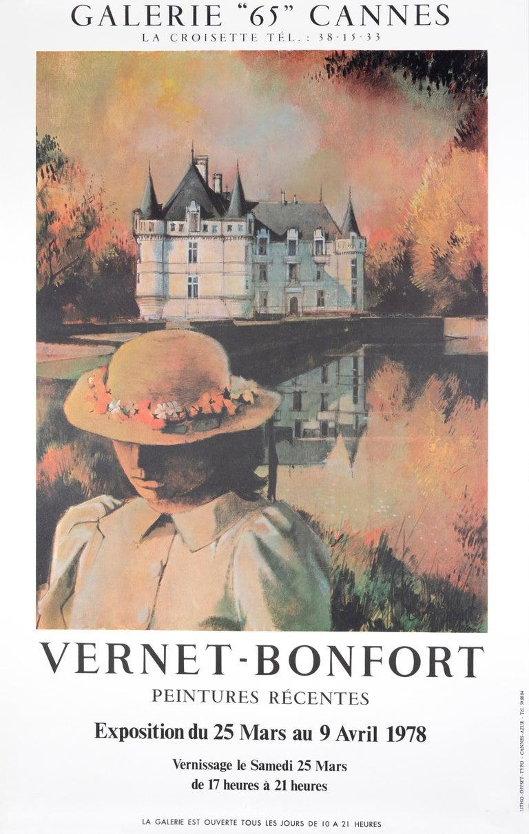 """Vernet-Bonfort Peintures Recentes - Galerie 65 Cannes"" Exhibition Poster - Print by Robert Vernet-Bonfort"