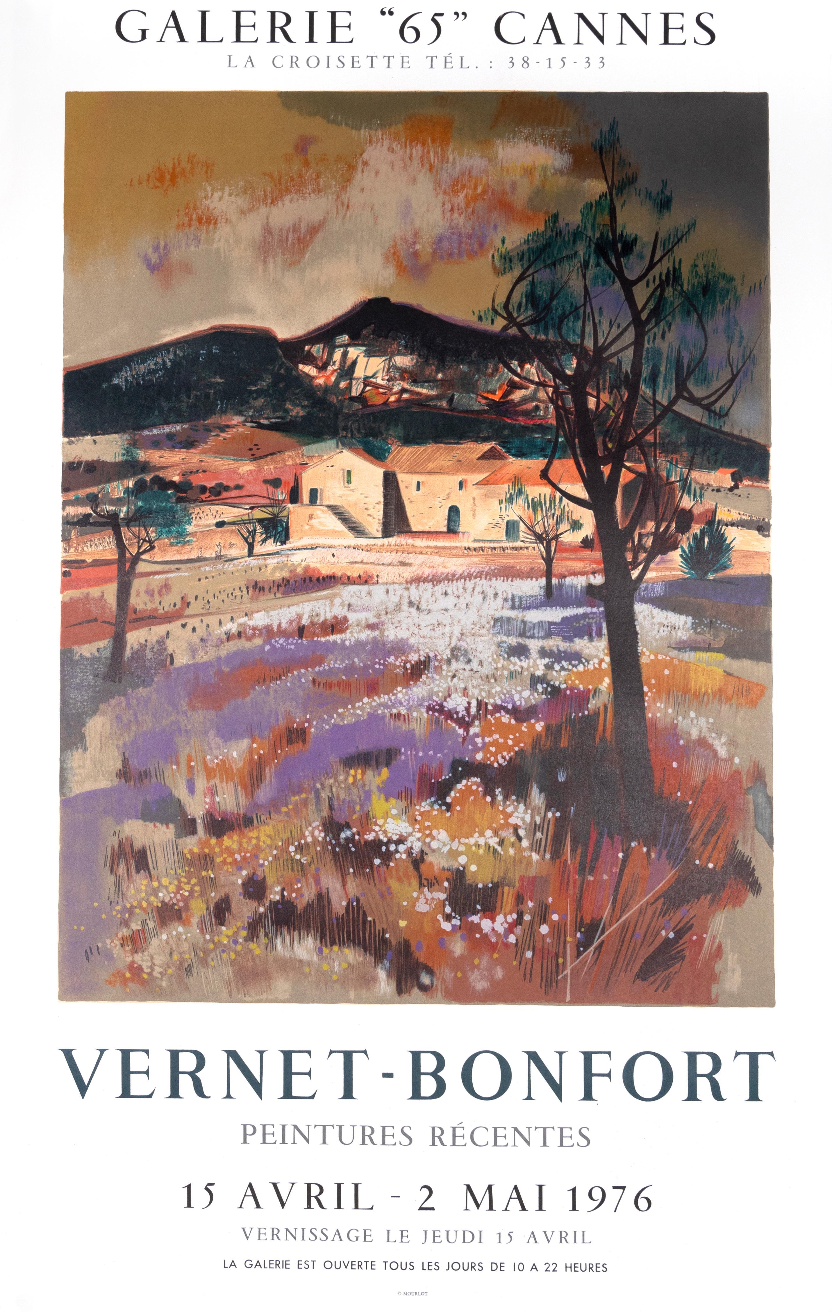 """Vernet-Bonfort Peintures Recentes"" Provencal Scene Exhibition Poster"