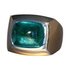 Robert Vogelsang 11.63 Carat Mint Green Tourmaline Rose Gold Cocktail Ring