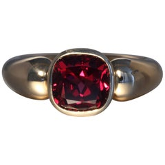 Robert Vogelsang 3.00 Carat Cushion Rhodolite Garnet Rose Gold Engagement Ring