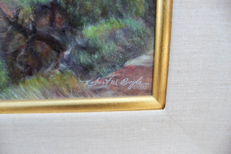 Realist Landscape - Gray Abstract Painting by Robert W. Boyle