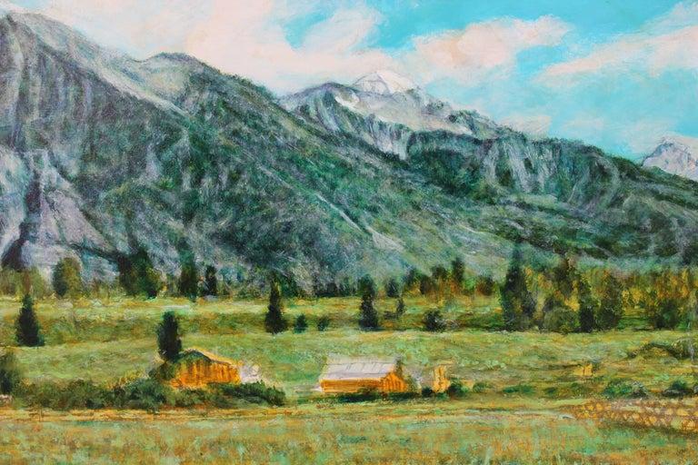 Landscape of Colorado Mountainside  - Art by Robert W. Boyle