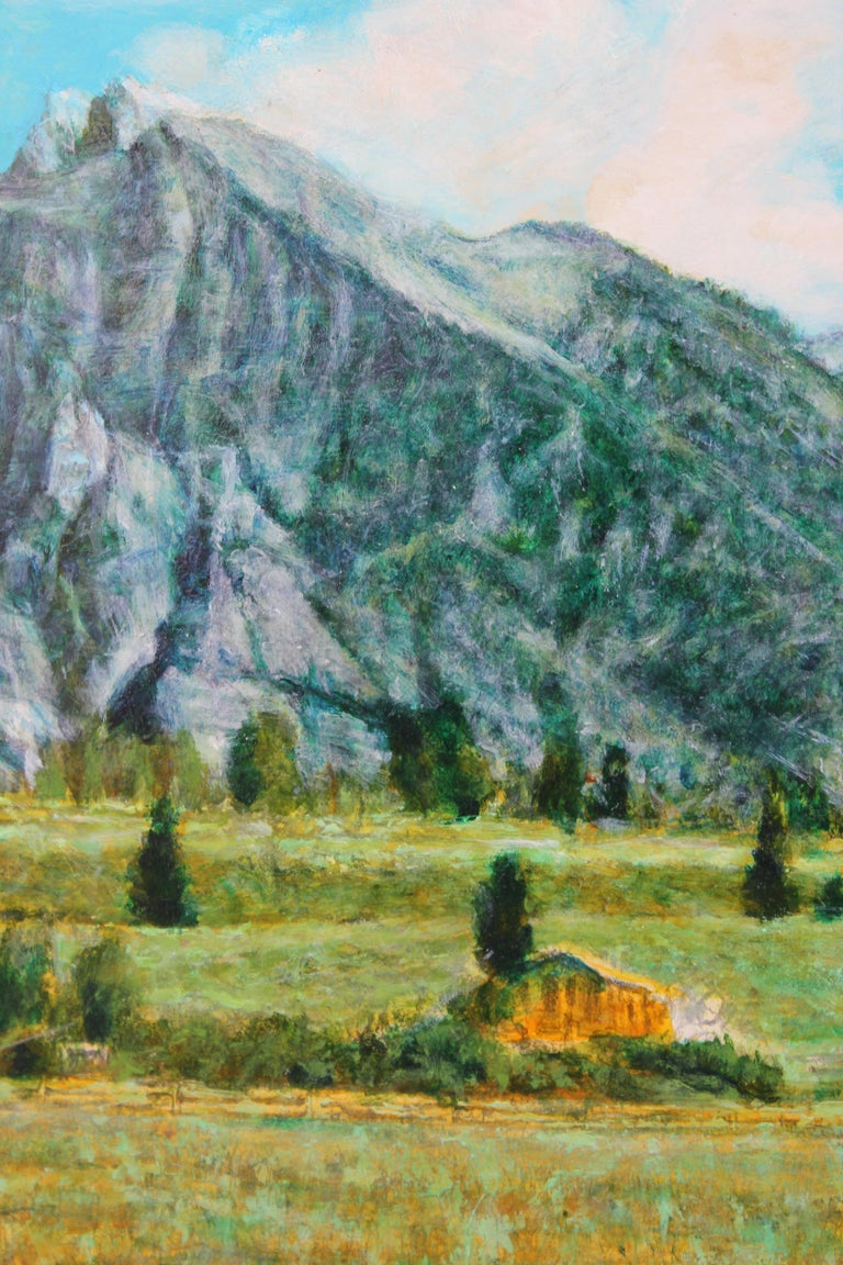 Landscape of Colorado Mountainside  - Realist Art by Robert W. Boyle