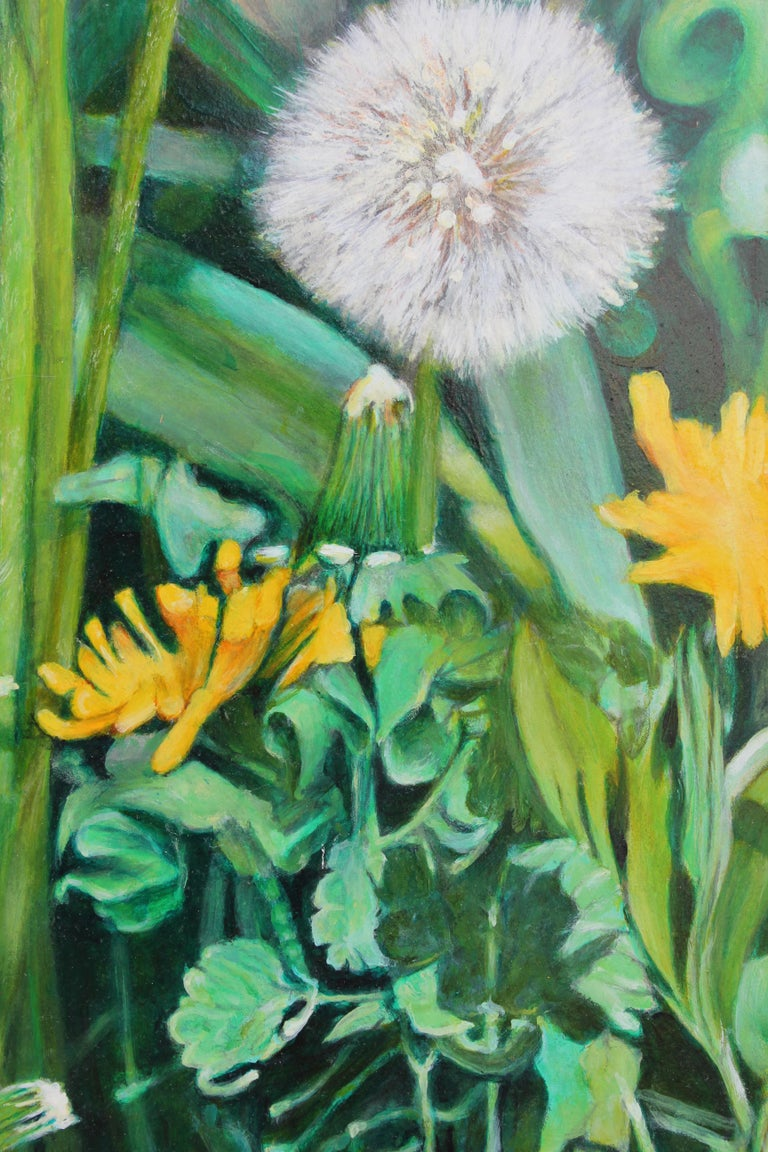 Close Up Painting with Dandelions For Sale 2