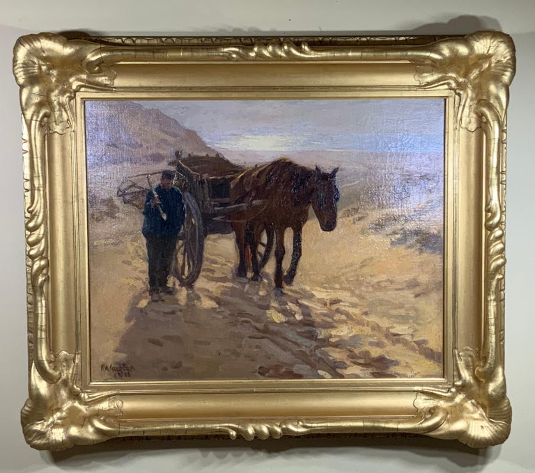 Without frame 25.5 x 20 Exceptional oil painting on canvas bye Robert Wadsworth Grafton (American, 1876-1936). Great looking painting by distinguish American artist. Great investment for Art connoisseurs or collector of American. The beautiful