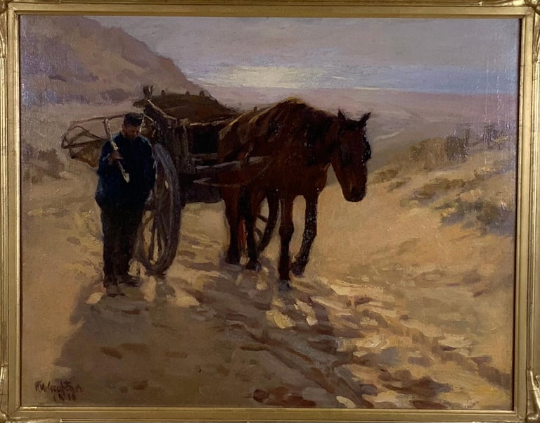 American Robert Wadsworth Grafton Antique Oil Painting For Sale