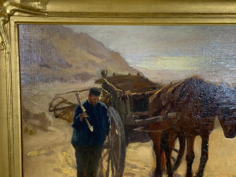 Early 20th Century Robert Wadsworth Grafton Antique Oil Painting For Sale