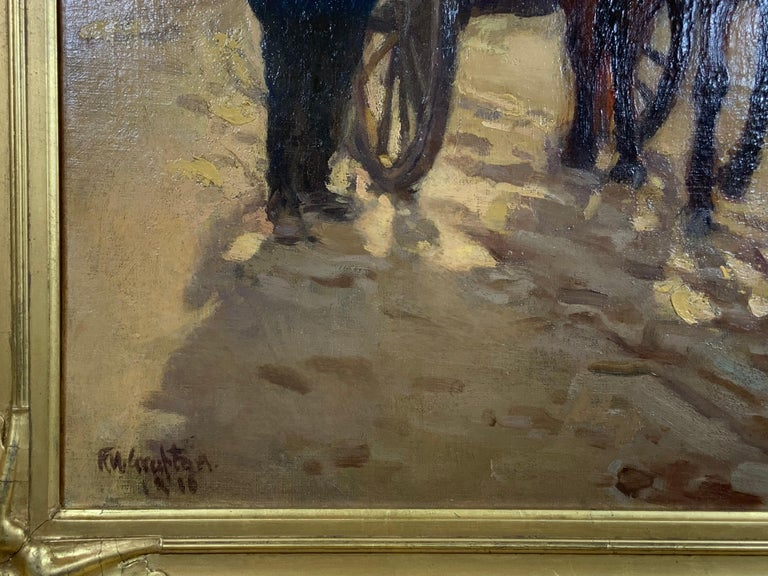 Robert Wadsworth Grafton Antique Oil Painting For Sale 1
