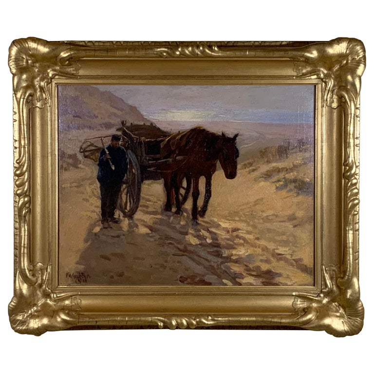 Robert Wadsworth Grafton Antique Oil Painting For Sale