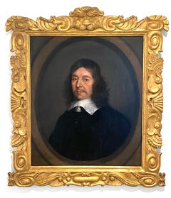 Portrait of Joseph Bentham (1593-1671), within a painted oval