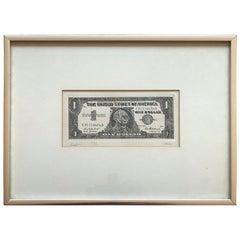 Robert Watts Etching 'Dollar Bill' Albright-Knox Art Gallery, 1962