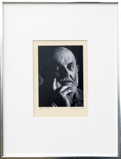 Black and White Portrait of Ansel Adams