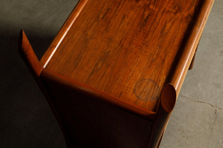 Robert Whitley Sculptural Walnut Studio Craftsman Cabinet, New Hope PA, 1970s For Sale 7
