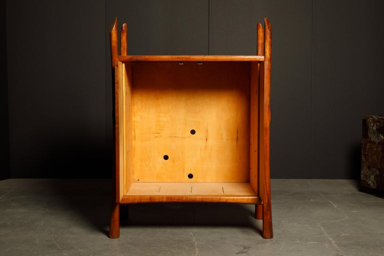 Robert Whitley Sculptural Walnut Studio Craftsman Cabinet, New Hope PA, 1970s For Sale 13