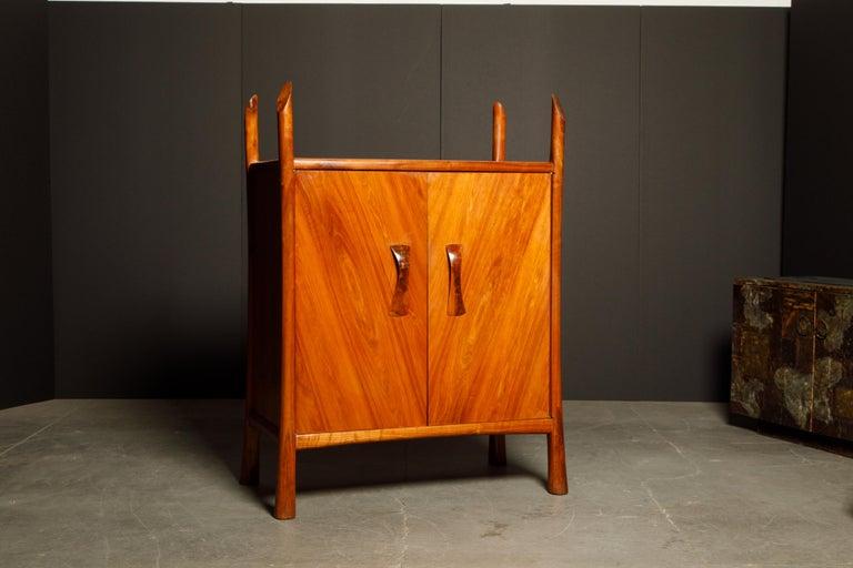 American Craftsman Robert Whitley Sculptural Walnut Studio Craftsman Cabinet, New Hope PA, 1970s For Sale