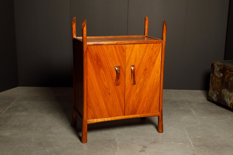 Robert Whitley Sculptural Walnut Studio Craftsman Cabinet, New Hope PA, 1970s In Good Condition For Sale In Los Angeles, CA