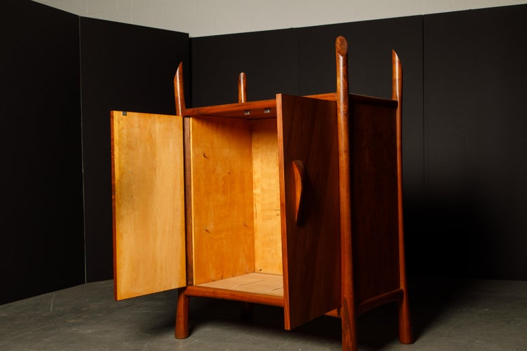 Robert Whitley Sculptural Walnut Studio Craftsman Cabinet, New Hope PA, 1970s For Sale 1