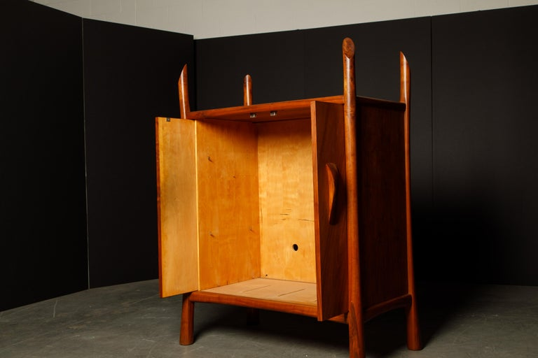 Robert Whitley Sculptural Walnut Studio Craftsman Cabinet, New Hope PA, 1970s For Sale 3