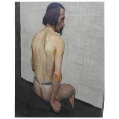 "Robert Whitmore Oil Painting ""Male Model"""
