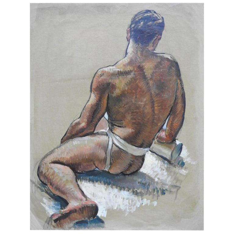 Robert Whitmore Oil Painting Male Portrait For Sale