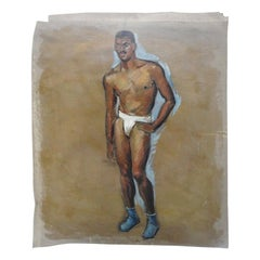Robert Whitmore Oil Painting of Male Model