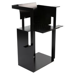 Robert Whitton One off Aluminum Matte Black Chair