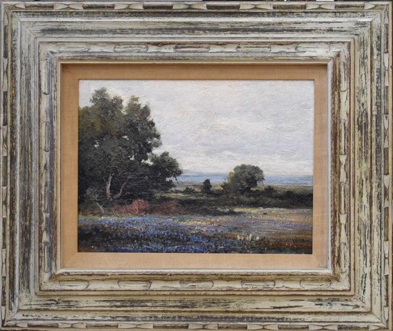 "Robert William Wood Landscape Painting -   ""Bluebonnets"" Texas Hill Country Ranch Bluebonnet"