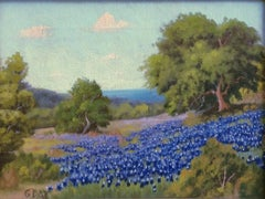 """Bluebonnets Texas Hill Country""  Rare G. Day Signature"