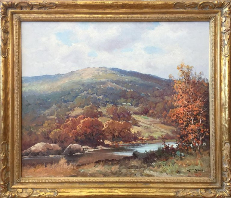"""Robert Wood Landscape Painting - """"Boerne Hills"""" Texas Hill Countruy"""