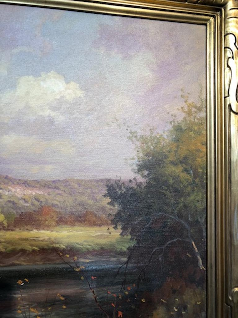 Robert Wood Texas Hill Country Landscape Painting For