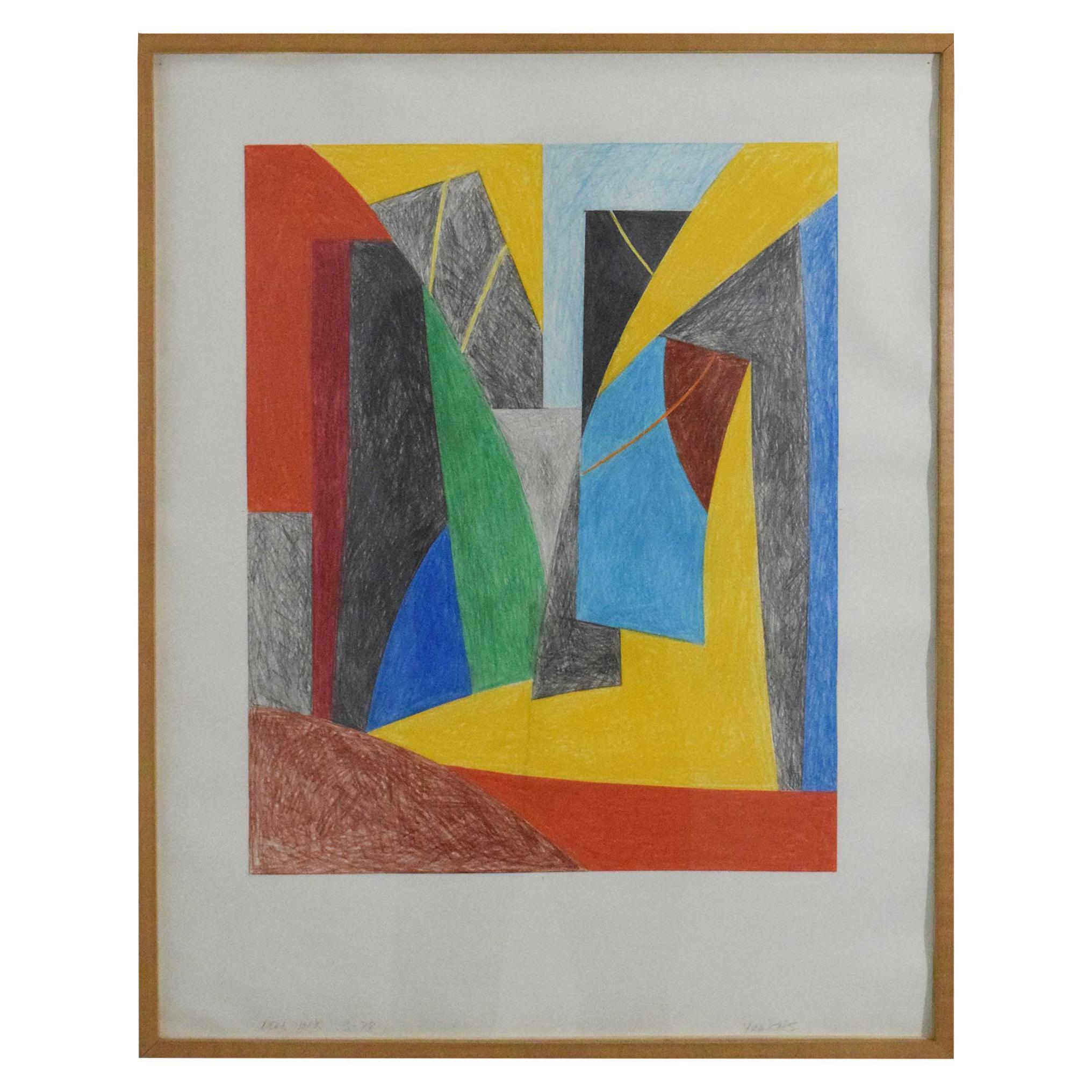 Robert Yucikas, B. 1944, Colored Pencil on Rives Paper, 1978
